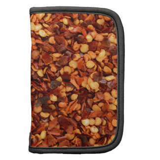 Red hot dried chilli flakes folio planners