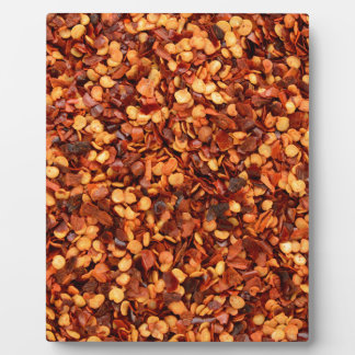 Red hot dried chilli flakes plaques