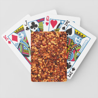 Red hot dried chilli flakes bicycle poker cards