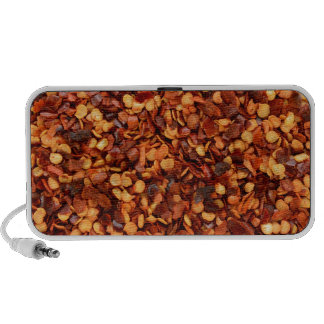 Red hot dried chilli flakes speaker system
