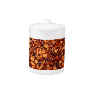 Red hot dried chilli flakes