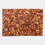 Red hot dried chilli flakes towels