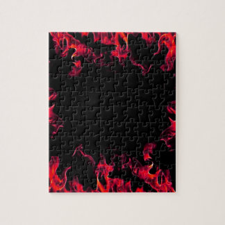 Red Hot Flame Designs Jigsaw Puzzle