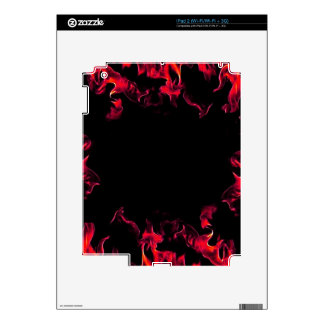 Red Hot Flame Designs Skin For The iPad 2