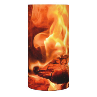 Red Hot Flames and Burning Fire Flameless Candle