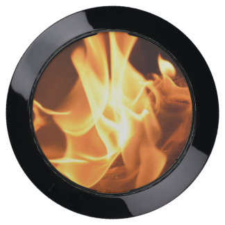 Red Hot Flames and Burning Fire USB Charging Station