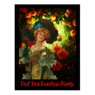 Red Hot Garden Party Postcard