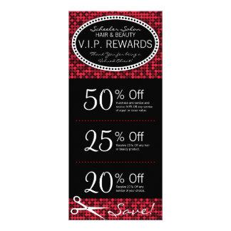 Red Hot Glam Custom Salon Coupon Rack Cards