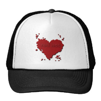 red hot mesh hat