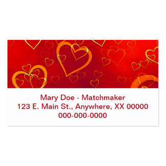 Red Hot Hearts Business Card Template
