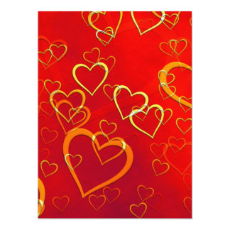 Red Hot Hearts Card
