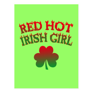 Red Hot Irish Girl Postcard