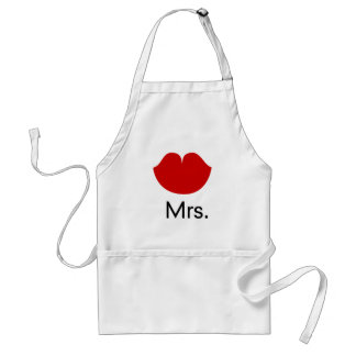 Red hot lips and mrs. adult apron