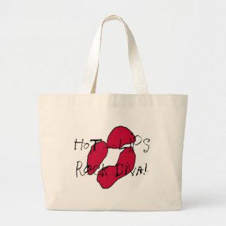 Red Hot Lips II Tote Bags