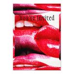 "Red Hot Lipstick Lips 5"" X 7"" Invitation Card"