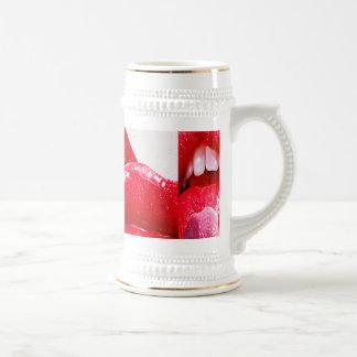 Red Hot Lipstick Lips Beer Stein