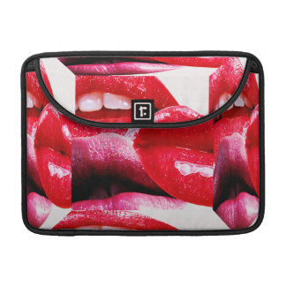 Red Hot Lipstick Lips Sleeve For MacBook Pro