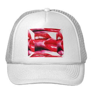 Red Hot Lipstick Lips Trucker Hat