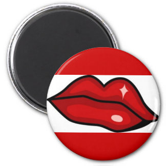 RED HOT LUCIOUS KISS LIPS SHINY LIPGLOSS BEAUTY MAGNET