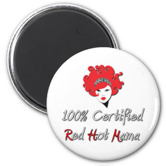Red Hot Mama 2 Inch Round Magnet