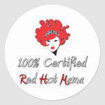 Red Hot Mama Classic Round Sticker