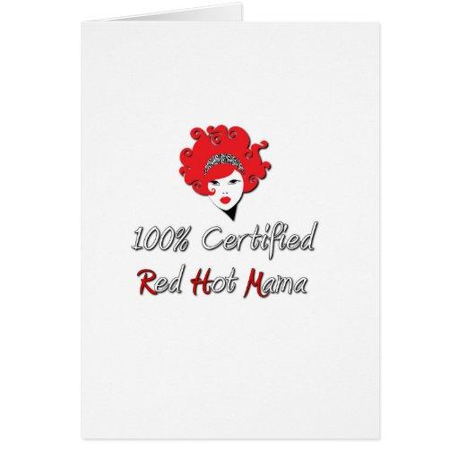 Red Hot Mama Greeting Card