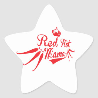 Red Hot Mama Star Sticker