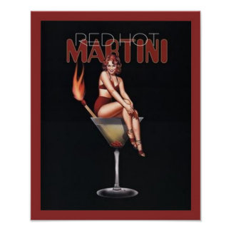 Red Hot Martini Poster
