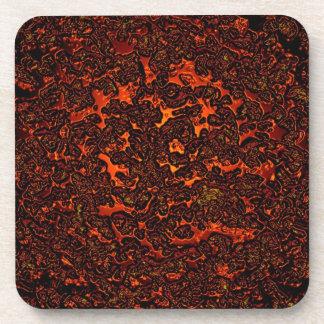 Red hot molten lava beverage coaster