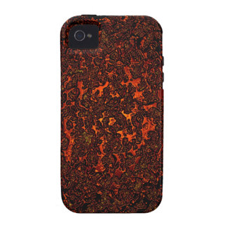 Red hot molten lava Case-Mate iPhone 4 covers