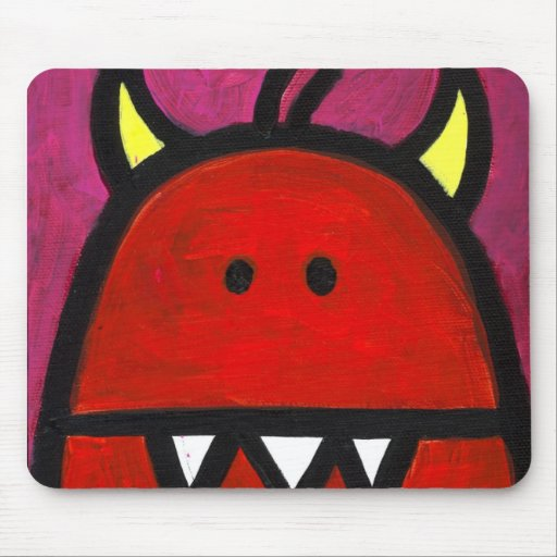 Red Hot Monster Mouse Pads