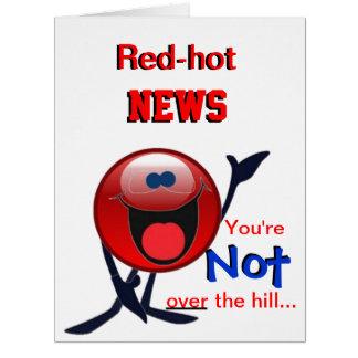 Red-hot news birthday card