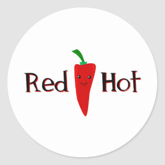 Red Hot Pepper Classic Round Sticker