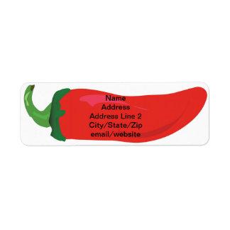Red Hot Pepper Custom Return Address Label