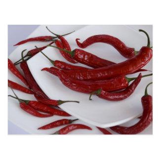 red hot pepper postcard