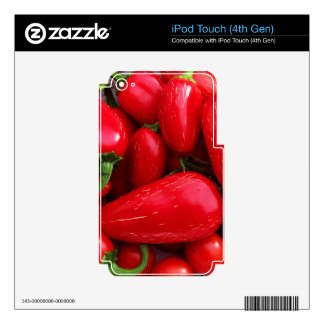 Red Hot Peppers iPod Touch 4G Decals