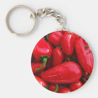 Red Hot Peppers Keychain