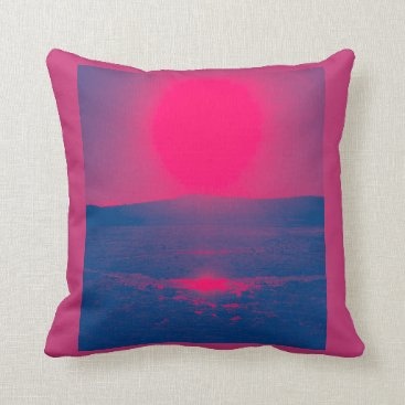 Beach Themed Red Hot Pillow