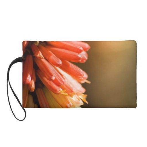 Red Hot Poker flower Wristlet Purse