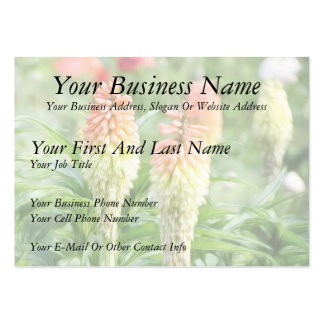 Red Hot Poker Plant Business Cards