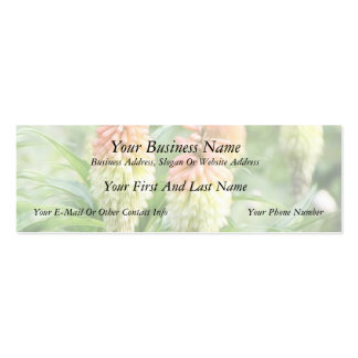 Red Hot Poker Plant Business Card Template