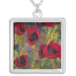 Red Hot Poppy Necklace