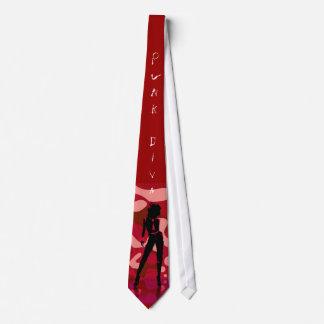 Red Hot Punk Diva Neck Tie