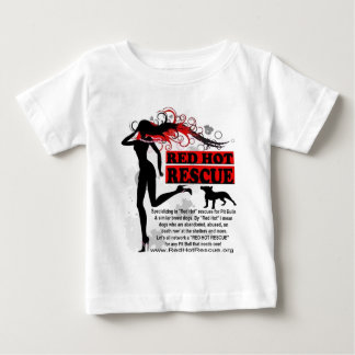 Red Hot Rescue Baby Tshirt - Large Logo on Front