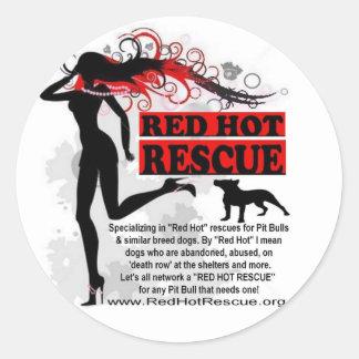 Red Hot Rescue Sticker Circle