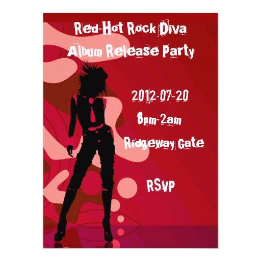 Red Hot Rock Diva I Custom Announcement