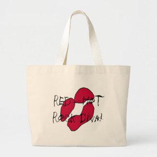 Red Hot Rock Diva Lips II Canvas Bag