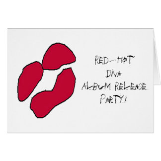 Red Hot Rock Diva Lips II Card