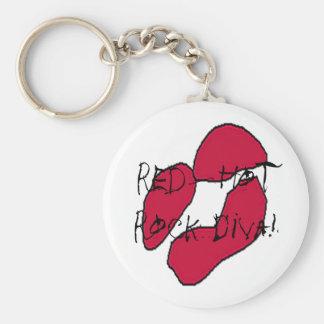 Red Hot Rock Diva Lips II Keychains