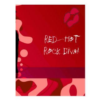 Red Hot Rock Diva Lips II Postcard